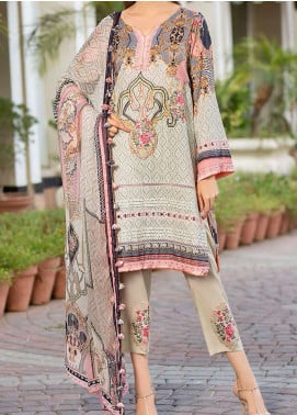 Libaas Embroidered Lawn Unstitched 3 Piece Suit LB20E 02-A - Luxury Collection