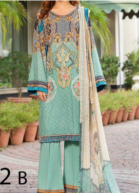 Libaas Embroidered Lawn Unstitched 3 Piece Suit LB20E 02-B - Luxury Collection
