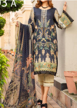 Libaas Embroidered Lawn Unstitched 3 Piece Suit LB20E 03-A - Luxury Collection