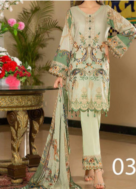Libaas Embroidered Lawn Unstitched 3 Piece Suit LB20E 03-B - Luxury Collection