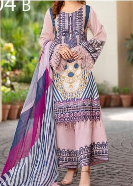 Libaas Embroidered Lawn Unstitched 3 Piece Suit LB20E 04-B - Luxury Collection