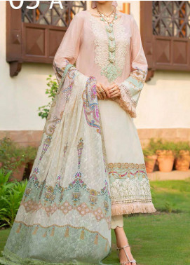 Libaas Embroidered Lawn Unstitched 3 Piece Suit LB20E 05-A - Luxury Collection
