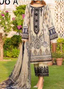 Libaas Embroidered Lawn Unstitched 3 Piece Suit LB20E 06-A - Luxury Collection