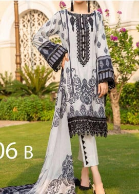 Libaas Embroidered Lawn Unstitched 3 Piece Suit LB20E 06-B - Luxury Collection