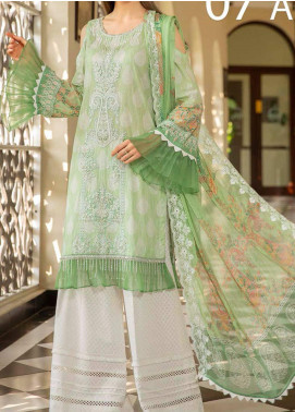 Libaas Embroidered Lawn Unstitched 3 Piece Suit LB20E 07-A - Luxury Collection