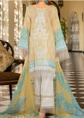 Libaas Embroidered Lawn Unstitched 3 Piece Suit LB20E 07-B - Luxury Collection