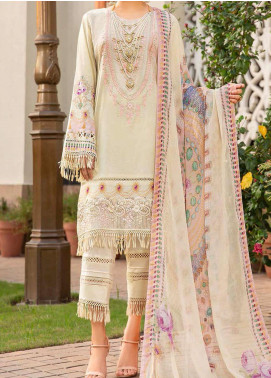 Libaas Embroidered Lawn Unstitched 3 Piece Suit LB20E 08-A - Luxury Collection