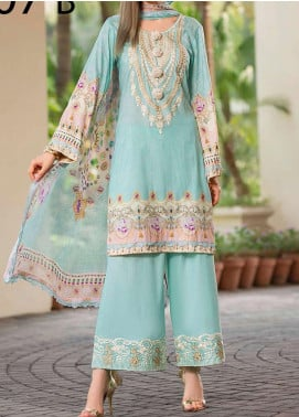 Libaas Embroidered Lawn Unstitched 3 Piece Suit LB20E 08-B - Luxury Collection