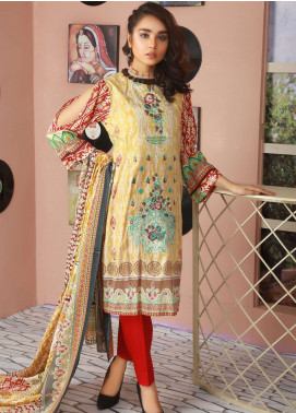 Libas by Shariq Textiles Embroidered Lawn Unstitched 3 Piece Suit LB19L 5A - Spring / Summer Collection