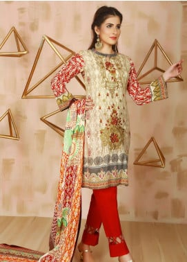 Libas by Shariq Textiles Embroidered Lawn Unstitched 3 Piece Suit LB19L 5B - Spring / Summer Collection