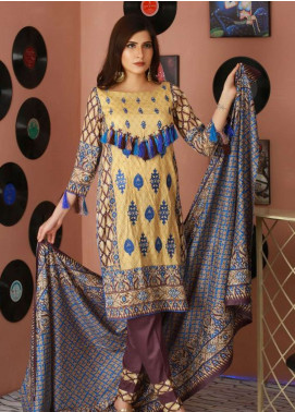 Libas by Shariq Textiles Embroidered Lawn Unstitched 3 Piece Suit LB19-L2 2A - Spring / Summer Collection