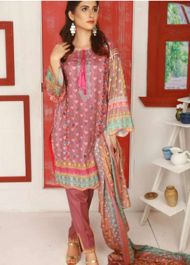 Libas by Shariq Textiles Embroidered Lawn Unstitched 3 Piece Suit LB19-L2 5A - Spring / Summer Collection