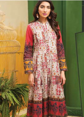 LimeLight Printed Lawn Unstitched Kurties LL19L U0656 Off White Antique Tribes - Spring / Summer Collection