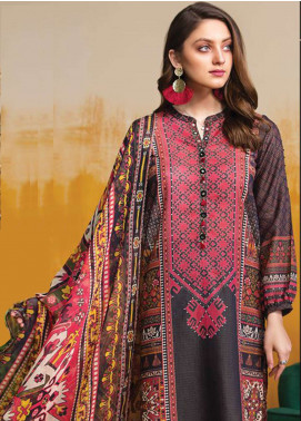 LimeLight Printed Lawn Unstitched 2 Piece Suit LL19L U0683 Black Majestic Folk - Spring / Summer Collection