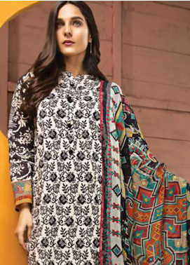 LimeLight Printed Lawn Unstitched 2 Piece Suit LL19L U0687 Black Tapestry Treasures - Spring / Summer Collection