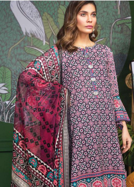 LimeLight Printed Lawn Unstitched 2 Piece Suit LL19L U0693 Black Folk Fusion - Spring / Summer Collection