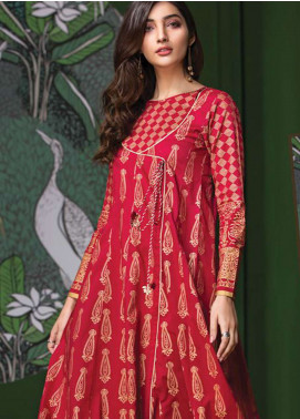 LimeLight Printed Lawn Unstitched Kurties LL19L U0707 Red Gold Valley - Spring / Summer Collection
