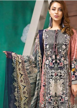LimeLight Printed Lawn Unstitched 2 Piece Suit LL19L U0711 Tea Pink Expression Gild - Spring / Summer Collection