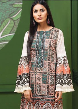 LimeLight Printed Lawn Unstitched Kurties LL19L U0722 Peach Ethnic Vessel - Spring / Summer Collection
