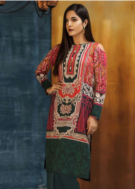 LimeLight Printed Cotton Unstitched Kurties LL18W 489 Green - Winter Collection