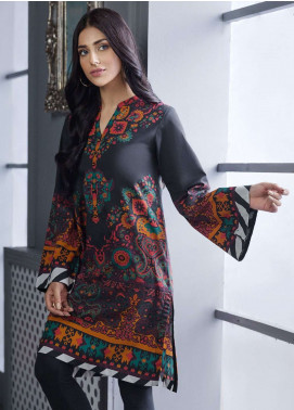 LimeLight Printed Cotton Unstitched Kurties LL18W 490 Black - Winter Collection