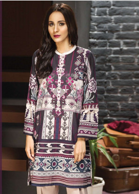 LimeLight Printed Cotton Unstitched Kurties LL18-W2 397 Plum - Winter Collection