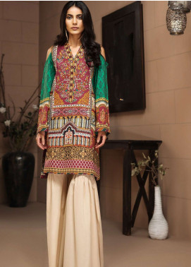 LimeLight Printed Cotton Unstitched Kurties LL18-W3 457 Green - Winter Collection