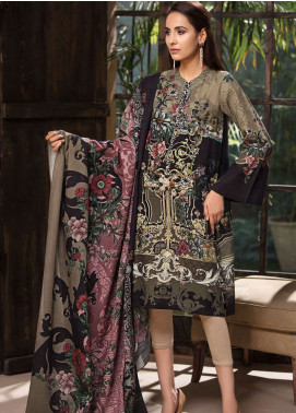 LimeLight Printed Khaddar Unstitched 2 Piece Suit LL18-W3 482 Brown - Winter Collection