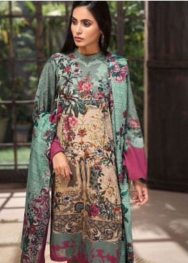 LimeLight Printed Khaddar Unstitched 2 Piece Suit LL18-W3 482 Green - Winter Collection