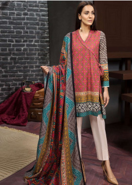 LimeLight Printed Khaddar Unstitched 2 Piece Suit LL18-W3 559 Pink - Winter Collection