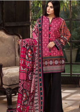 LimeLight Printed Khaddar Unstitched 2 Piece Suit LL18-W3 564 Pink - Winter Collection
