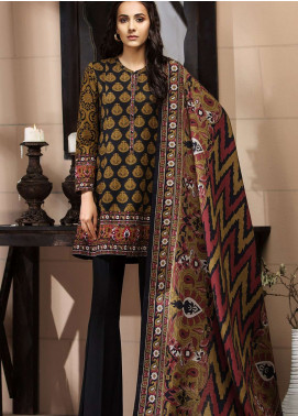 LimeLight Printed Khaddar Unstitched 2 Piece Suit LL18-W3 597 Black - Winter Collection