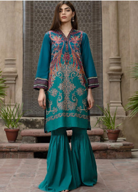 LimeLight Printed Cotton Unstitched Kurties LL19W U0746 Zinc - Winter Collection