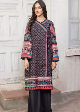 LimeLight Printed Cotton Unstitched Kurties LL19W U0776 Black - Winter Collection