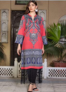 LimeLight Printed Cotton Unstitched Kurties LL19W U0809 Rust - Winter Collection