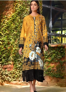 LimeLight Printed Cotton Unstitched Kurties LL19W U0828 Mustard - Winter Collection