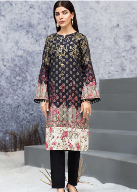 LimeLight Printed Jacquard Unstitched Kurties LL19W U0860 Black - Winter Collection