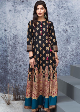 LimeLight Printed Cotton Unstitched Kurties LL19W U0908 Black - Winter Collection