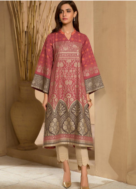LimeLight Printed Khaddar Unstitched Kurties LL19W U0909 Red - Winter Collection