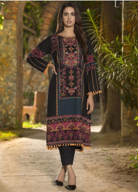 LimeLight Printed Khaddar Unstitched Kurties LL19W U0916 Blue - Winter Collection