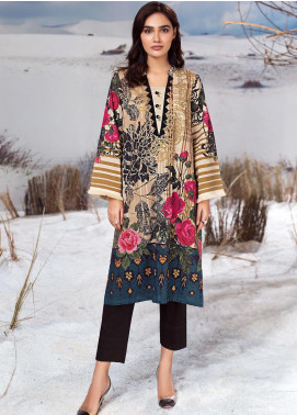 LimeLight Printed Cotton Unstitched Kurties LL19W U0917 Beige - Winter Collection