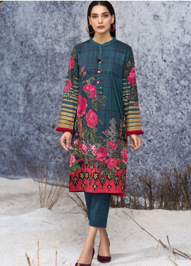 LimeLight Printed Cotton Unstitched Kurties LL19W U0917 Blue - Winter Collection