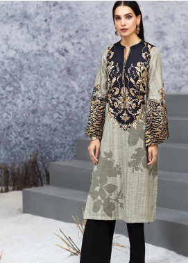 LimeLight Printed Khaddar Unstitched Kurties LL19W U0922 Grey - Winter Collection