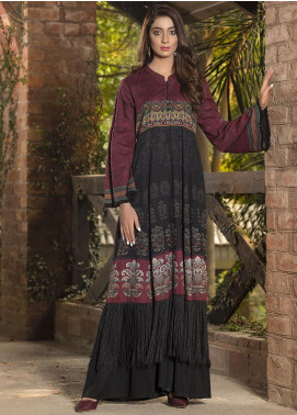LimeLight Printed Khaddar Unstitched Kurties LL19W U0931 Black - Winter Collection
