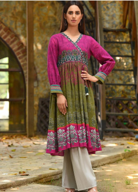 LimeLight Printed Khaddar Unstitched Kurties LL19W U0931 Pink - Winter Collection