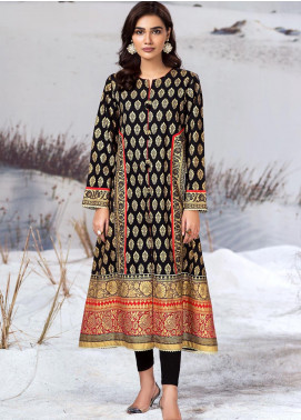 LimeLight Printed Cotton Unstitched Kurties LL19W U0945 Black - Winter Collection