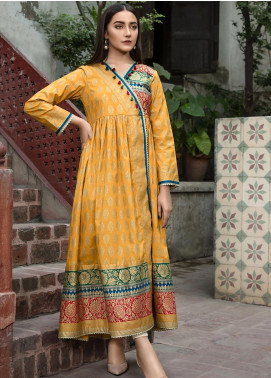 LimeLight Printed Cotton Unstitched Kurties LL19W U0945 Orange - Winter Collection