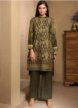 LimeLight Printed Cotton Unstitched Kurties LL19W U0946 Army Green - Winter Collection