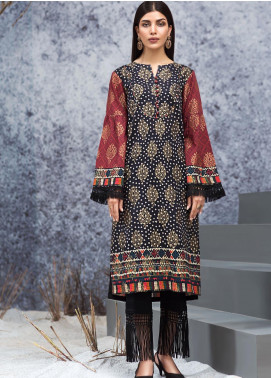 LimeLight Printed Jacquard Unstitched Kurties LL19W U0992 Black - Winter Collection