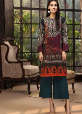 LimeLight Printed Cotton Unstitched Kurties LL18-W3 274 Green - Winter Collection